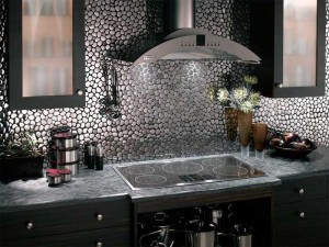 Metallic Kitchen Back Splash
