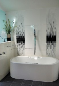 Modern Black and White Bath