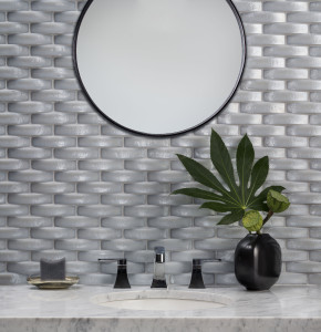 Basket Weave Powder Room